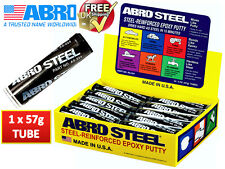 Abro Steel QuickSteel Reinforced Epoxy Metal Instant Repair Putty Weld AS224/2OZ