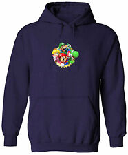 Unisex Pullover Hoodie Sweater Mens Women Print Mario Luigi Yoshi Peach Party