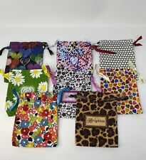 Brighton Lot of 8 Empty Bags Fabric Pouches Jewelry Storage /Travel / Dust Bags