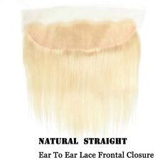 #613 Blonde Brazilian Hair 14inch 13*4 Lace Frontal Closure Straight Human Hair