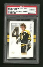 Bobby Orr Boston Bruins Hockey 2014 Canada Post Stamp PSA 10 GEM MINT