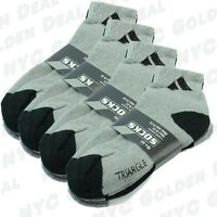 NEW Adi 6 Pairs Sport  Ankle/Quarter Crew Mens Socks Cotton low cut Size 10-13