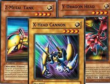 Set of 3 ( X- Head Cannon + Y - Dragon + Z - Metal Tank) 1st DPKB Yugioh Cards