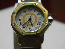 Cartier Two-Tone 18kGold & Stainless Steel Santos Automatique Ladies Wristwatch