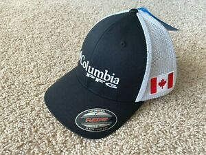NEW Columbia PFG Mesh Canada Flag Fishing Cap