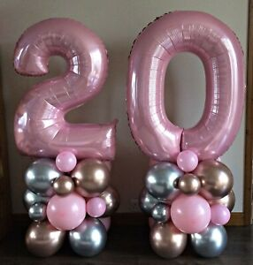"""40"""" Baby Pink Number Balloons Air Helium Large Foil Happy Birthday Party Baloons"""