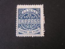 SAMOA, SCOTT # 1, 1p VALUE BLUE 1879 KINGDOM EXPRESS ISSUE MNG