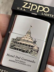 1992 Zippo Lighter - Hotel Del Coronado San Diego - Mint In The Box