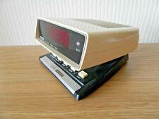 More details for genuine 1980's zeon red led alarm clock sputnik space design ~ free uk post