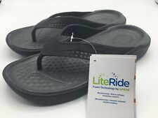 Crocs LiteRide Flip Men's Size 10 Black Slate Grey New with Tags NWT