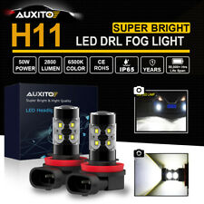 2xH11 H8 H9 2800LM LED Fog Light Bulbs Car Driving Lamp DRL 6000K White Globe AU