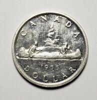 Canada 1955 Silver $1.00 One Dollar Coin