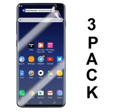 "Samsung Galaxy S10 Plus 6.4"" 3D Transparent Clear Screen Protector HD 3-Pack🔥📱"
