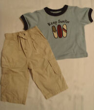 Gymboree Baby Boys 6-12 Month Baja Surf Pant Shirt Everyday Outfit NWT