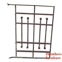 Antique Victorian Iron Gate Window Garden Fence Architectural Salvage Door #670
