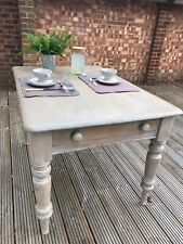 Solid Pine Rustic Farmhouse / Shabby Chic Kitchen Table