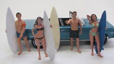 4 x Figuren ( Surfer Surferin ) American Diorama 1:18