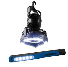 Outdoor Camping Fan & Pen Light 18 LED Flashlight Hanging Tent Light Lantern