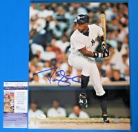 DARRYL STRAWBERRY SIGNED 11x14 PHOTO ~ JSA M27029 ~ NY YANKEES ~