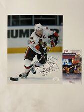 Daniel Alfredsson Signed Ottawa Senators 8x10 Glossy Photo With JSA COA SWEDISH