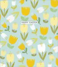 Flowers Die Cut Happy Easter Cute Greeting Card Happy Easter Greetings Cards