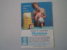 advertising Pubblicità 1964 PANNOLINI MOLNINA