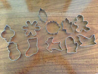 Christmas Holiday Metal Cookie Cutters 11 piece set  Wilton  NEW