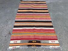 Old Turkish Kilim Runner, shabby chic, vintage, wool country home decor kelim