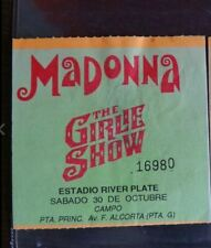 Madonna Girlie Show Buenos Aires Argentina 10-30-1993 Ticket Used