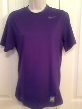 WOMEN'S S NIKE PRO COMBAT SHORT SLEEVE  ATHLETIC SHIRT PURPLE, FITTED
