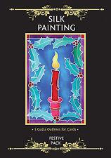 Silkcraft Silk Painting Gutta Outlines - Card Making - Festive Pack (Pack of 5)