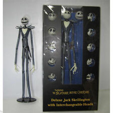 "NEW The Nightmare Before Christmas Jack Skellington Figure 15"" Skull Heads Doll"