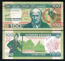 Lapland (Finland), 100 Kroner, 2017, Private Issue, UNC - Johan Turi
