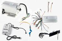 1000W 48V Brushless motor BM1020+Speed controller+keylock+foot Throttle+Charger