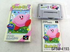 Complete Hoshi no Kirby 3 Super Famicom Japanese Import CIB SFC SNES US Seller B