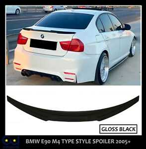 BMW 3 SERIES E90 M SPORT M4 TYPE V STYLE REAR TRUNK BOOT SPOILER LIP 100% FIT