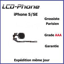 Apple iPhone 5S/SE Bouton Home Noir + Nappe