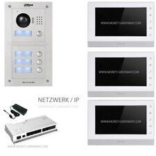 IP-Videotürsprechanlage 3 Teilnehmer Drei 3-Familienhaus Netzwerk Intercom Dahua
