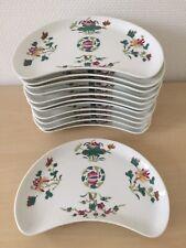 Superbe 12 ASSIETTES A SALADE porcelaine signées CERALENE LIMOGES décor FLEURS
