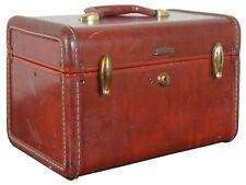 Samsonite Leather Train Makeup Travel Vanity Luggage Case Shwayder Bros 4912