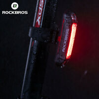 ROCKBROS Bicycle Tail Light Cycling Rechargeable Flashing Safety Rear Light