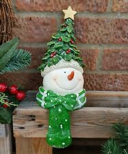 More details for 28cm traditional snowman stocking hanger vintage style snowman stocking hanger