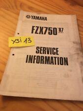 Yamaha FZX750 1987 2JE 2MU FZX 750 service information tecnical technical data