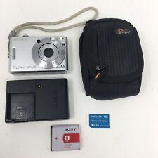 Sony Cyber Shot DSC-W30 6.0MP Digital Camera (Silver) Bundle w/Accessories