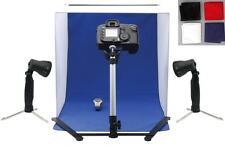 MINI Portable Photo Studio Tenda / SET / KIT CON 2 LUCI E 4 Sfondi (pht3-1)
