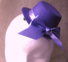 purple mini top hat fascinator millinery burlesque wedding hen party fancy dress