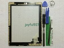 White Adhesive Replacement Digitizer Touch Screen Glass For iPad 2 With Tools