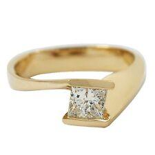 14kt Oro Amarillo Unidad, Compromiso Solitario 0.45ct Anillo con Diamante