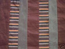 Stripe Patches Fashion Corduroy Fabric Brown & Green