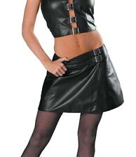 Plus Size Leather Mini  School Girl Skirt 1x to 3x By Allure (13-500x)